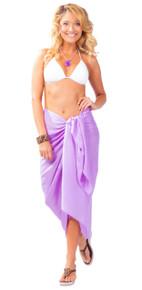 Solid Lavender FRINGELESS Sarong