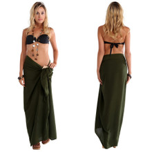 Solid Colored Sarong in Dark Green Olive