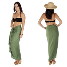 "Solid Sarong ""Green Olive"""