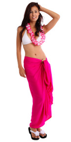 Solid Colored Sarong in Hot Pink