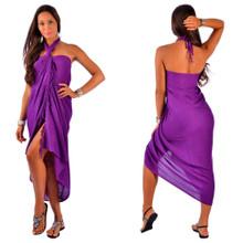 """Solid Sarong """"Purple"""""""