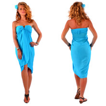Solid Colored Sarong in Turquoise