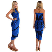 "Tattoo Sarong ""Royal Blue"""