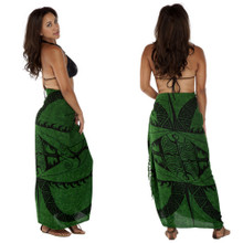 "Tattoo Sarong ""Emerald Green"""
