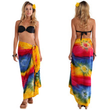 Diamond Rainbow Tie Dye Sarong