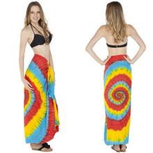 Rainbow Swirl Tie Dye Sarong