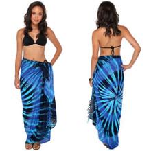 Blue Swirl Tie Dye Sarong