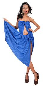 "Plus Size Solid High-End Pertama Sarong ""Royal Blue"""