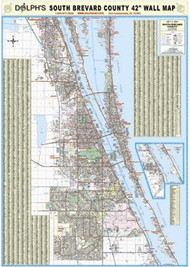 "South Brevard County, FL 42"" Wall Map"