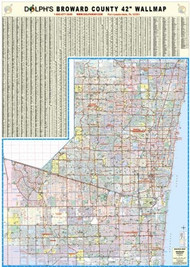 "Broward County, FL 42"" Wall Map Paper Only"