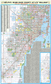 "Miami-Dade County, FL 42"" Wall Map"
