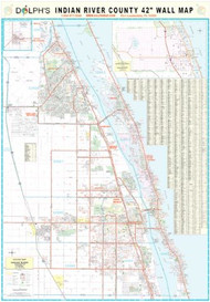 "Indian River County, FL 42"" Wall Map"