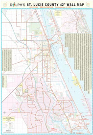 "St. Lucie County, FL 42"" Wall Map Paper Only"