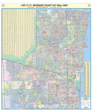 "Broward County, FL 60"" Wall Map"