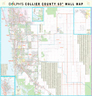 "Collier County, FL 60"" Wall Map Paper Only"