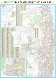 "Palm Beach County, FL 60"" Wall Map"