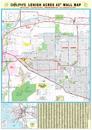 "Lehigh Acres, FL 42"" Wall Map Paper Only"