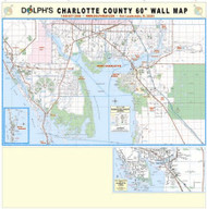 "Charlotte County, FL 60"" Wall Map"