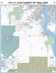 "Clay County, FL 60"" Wall Map"