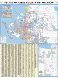 "Manatee County, FL 60"" Wall Map Paper Only"
