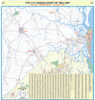 "Nassau County, FL 60"" Wall Map Paper Only"