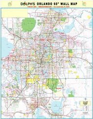 "Orlando, FL 60"" Wall Map Paper Only"