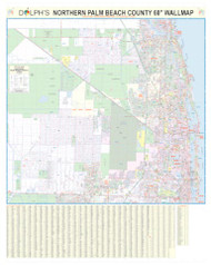 "North Palm Beach County, FL 60"" Wall Map"