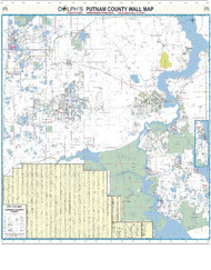 "Putnam County, FL 60"" Wall Map Rail Mounted"