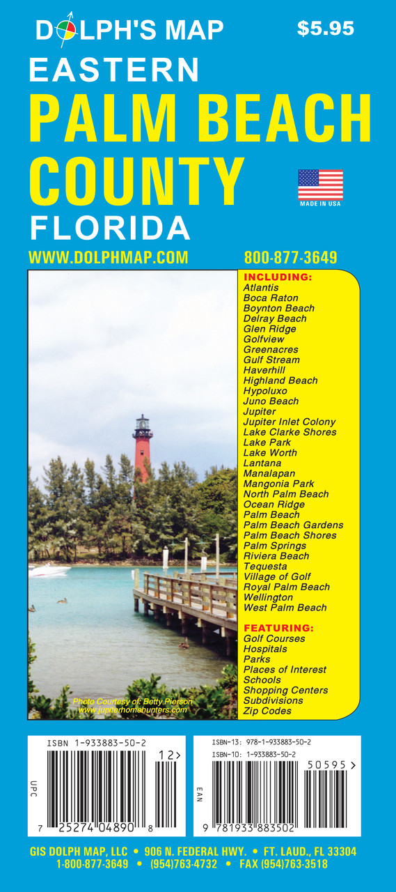 Boca Raton Florida Zip Code Map.Palm Beach County Fl Dolph Map Llc