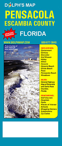 Pensacola Escambia County Fl Dolph Map Llc