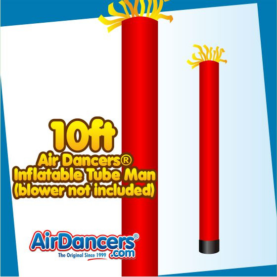 Red Tube Air Dancers® Inflatable Tube Man 10ft by AirDancers.com