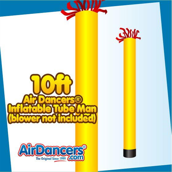 Yellow Tube Air Dancers® Inflatable Tube Man 10ft by AirDancers.com