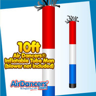 Red White Blue Tube Air Dancers® Inflatable Tube Man 10ft