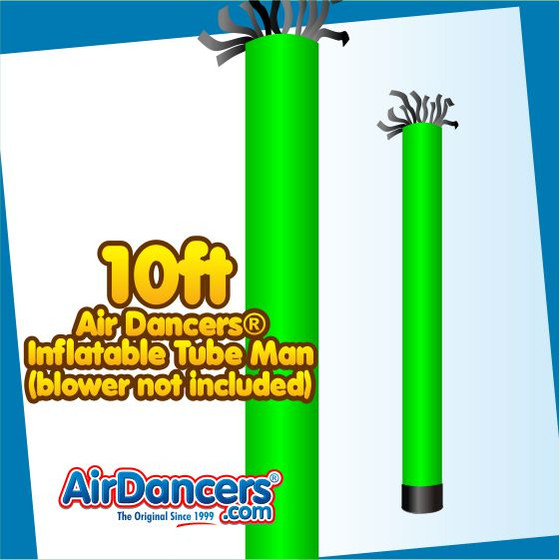 Green Tube Air Dancers® Inflatable Tube Man 10ft by AirDancers.com