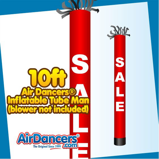 Red SALE Tube Air Dancers® Inflatable Tube Man 10ft