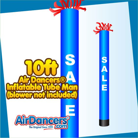 Blue Tube Sale Air Dancers® Inflatable Tube Man 10ft by AirDancers.com