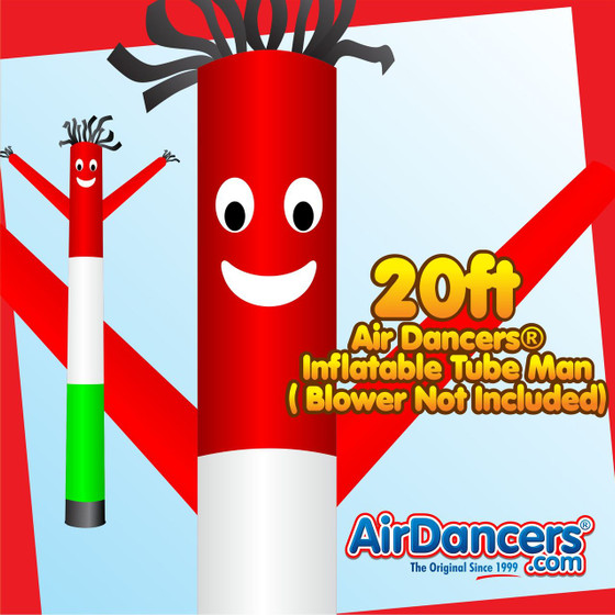 Italian Flag Air Dancers® Inflatable Tube Man 20ft by AirDancers.com