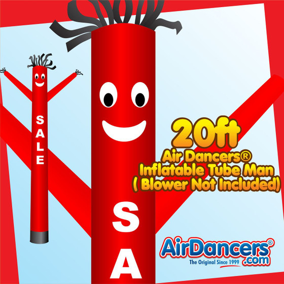 Red Sale Air Dancers® Inflatable Tube Man 20ft by AirDancers.com