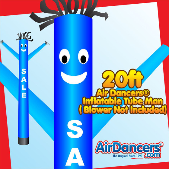 Blue Sale Air Dancers® Inflatable Tube Man 20ft