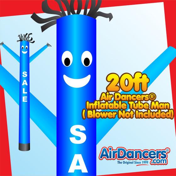 Blue Sale Air Dancers® Inflatable Tube Man 20ft