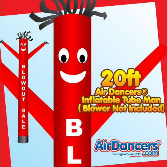 Red Blowout Sale Air Dancers® Inflatable Tube Man 20ft by AirDancers.com