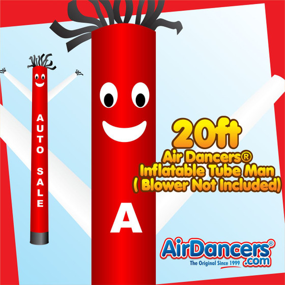 Red White Auto Sale Air Dancers® Inflatable Tube Man 20ft