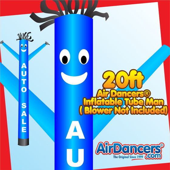 Blue Auto Sale Air Dancers® Inflatable Tube Man 20ft by AirDancers.com