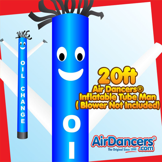 Blue White Oil Change Air Dancers® Inflatable Tube Man 20ft