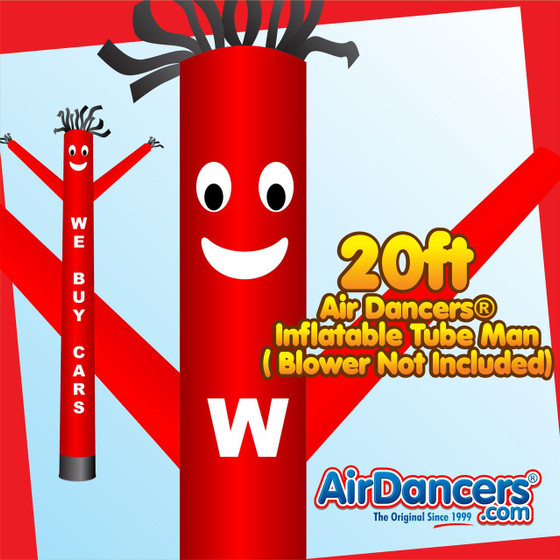 Red We Buy Cars Air Dancers® Inflatable Tube Man 20ft by AirDancers.com