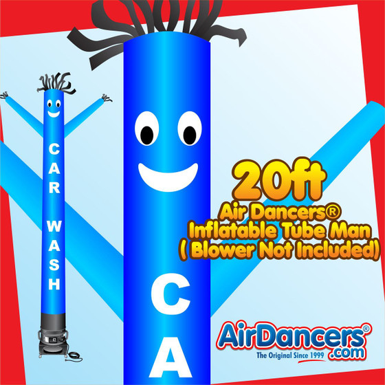 Blue Car Wash Air Dancers® Inflatable Tube Man 20ft by AirDancers.com