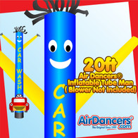 Blue Yellow Car Wash Shape Air Dancers® Inflatable Tube Man 20ft by AirDancers.com