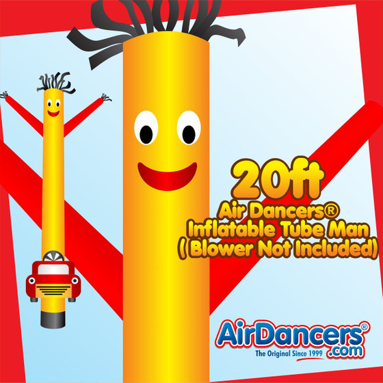 Yellow Red Car Wash Shape Air Dancers® Inflatable Tube Man 20ft by AirDancers.com