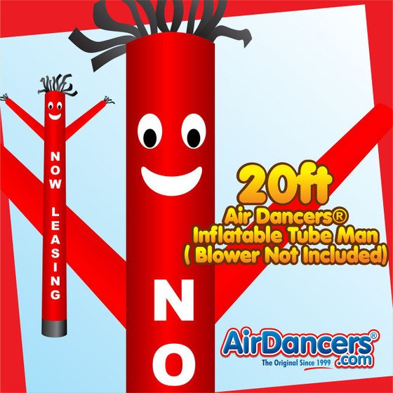 Red Now Leasing Air Dancers® Inflatable Tube Man 20ft by AirDancers.com