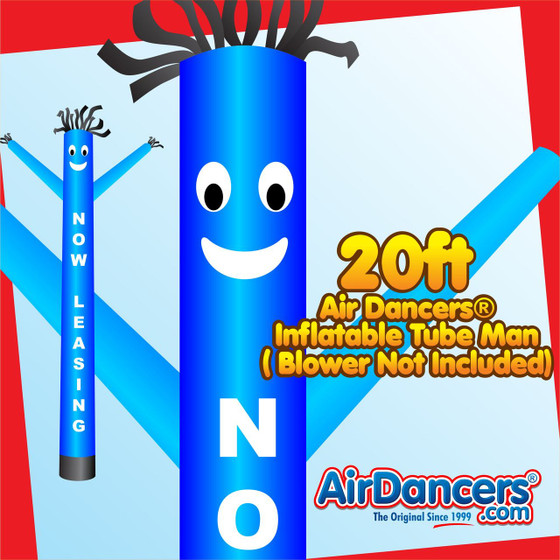 Blue Now Leasing Air Dancers® Inflatable Tube Man 20ft by AirDancers.com